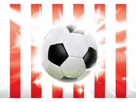 Fotobehang Vlies | Voetbal | Rood, Wit | 368x254cm (bxh)