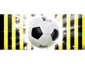 Fotobehang Voetbal   Zwart, Geel   250x104cm