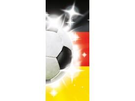 Fotobehang Voetbal | Geel, Wit | 91x211cm