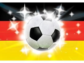 Fotobehang Vlies | Voetbal | Zwart, Rood | 368x254cm (bxh)