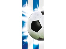 Fotobehang Voetbal | Blauw, Wit | 91x211cm