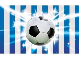 Fotobehang Papier Voetbal | Blauw, Wit | 368x254cm