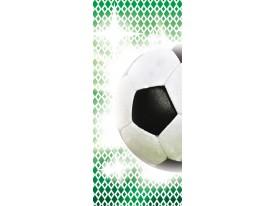 Fotobehang Voetbal | Groen, Wit | 91x211cm