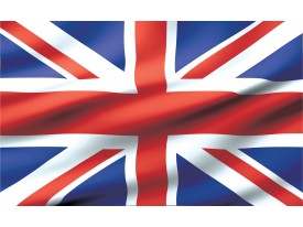 Fotobehang Vlies | Vlag | Blauw, Rood | 368x254cm (bxh)