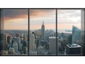 Fotobehang New York | Grijs | 208x146cm