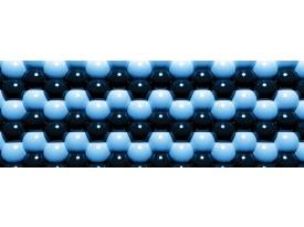 Fotobehang Vlies Abstract | Blauw | GROOT 832x254cm
