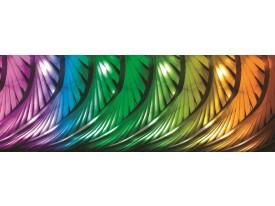 Fotobehang Vlies Abstract | Groen, Oranje | GROOT 624x219cm