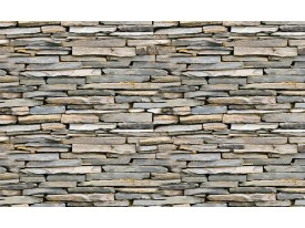 Fotobehang Papier Brick   Grijs   254x184cm