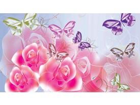 Fotobehang Papier Bloem | Roze | 368x254cm