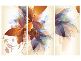 Fotobehang Papier Bloem | Crème | 254x184cm