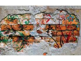Fotobehang Vlies | Graffiti | Oranje | 368x254cm (bxh)