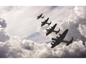Fotobehang Planes | Grijs | 208x146cm