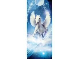 Deursticker Muursticker Paard | Blauw | 91x211cm