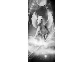 Deursticker Muursticker Paard | Grijs | 91x211cm