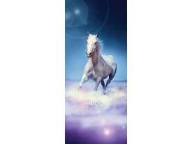 Fotobehang Paard | Paars, Blauw | 91x211cm