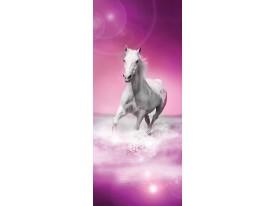 Deursticker Muursticker Paard | Roze | 91x211cm