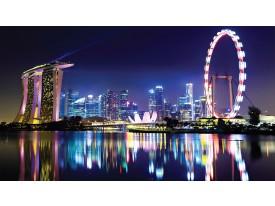 Fotobehang Singapore | Paars | 312x219cm