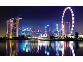 Fotobehang Vlies | Singapore | Paars | 368x254cm (bxh)