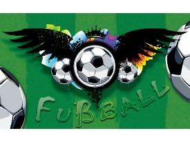 Fotobehang Vlies | Voetbal | Groen, Zwart | 368x254cm (bxh)