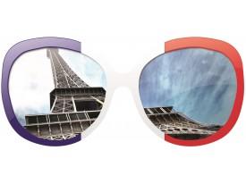 Fotobehang Eiffeltoren   Grijs  