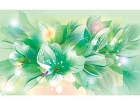 Fotobehang Vlies   Bloemen   Groen   368x254cm (bxh)