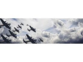 Fotobehang Vlies Vliegtuigen | Grijs | GROOT 832x254cm