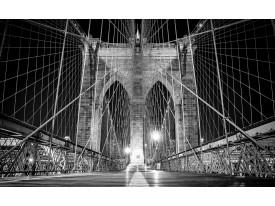 Fotobehang Brug | Zwart | 104x70,5cm