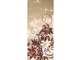 Deursticker Muursticker Bloemen | Bruin | 91x211cm