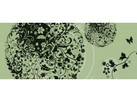Fotobehang Bloemen   Groen   250x104cm