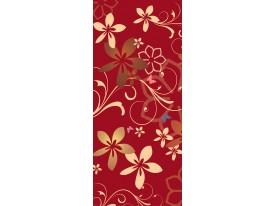 Deursticker Muursticker Bloemen | Rood | 91x211cm