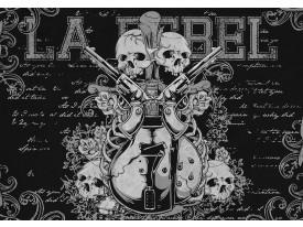 Fotobehang Muziek | Zwart | 104x70,5cm