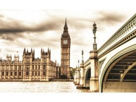Fotobehang London | Sepia | 208x146cm