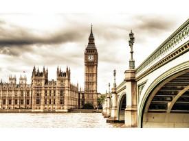 Fotobehang Vlies | London | Sepia | 368x254cm (bxh)