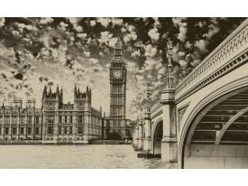 Fotobehang London | Sepia | 152,5x104cm