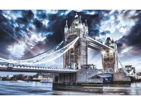 Fotobehang London | Blauw | 208x146cm