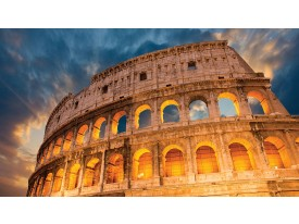Fotobehang Papier Rome | Oranje | 254x184cm