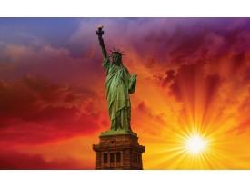 Fotobehang Papier New York   Rood   368x254cm