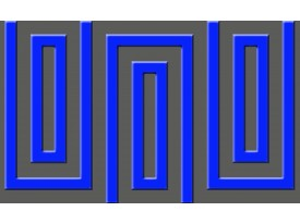 Fotobehang Vlies | Stenen | Blauw | 368x254cm (bxh)