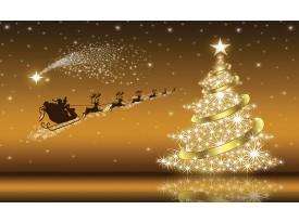 Fotobehang Kerst | Goud | 416x254