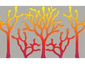Fotobehang Vlies | Abstract | Geel, Rood | 368x254cm (bxh)