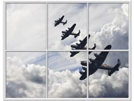 Fotobehang Planes | Grijs |
