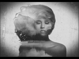 Fotobehang Vlies | Vrouw | Zwart, Grijs | 368x254cm (bxh)