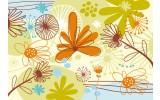 Fotobehang Vlies | Bloemen | Groen, Oranje | 368x254cm (bxh)