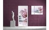 Deursticker Muursticker Stenen, Zen | Roze | 91x211cm