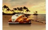 Fotobehang Vlies | Auto | Oranje, Bruin | 368x254cm (bxh)
