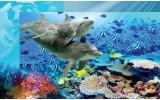 Fotobehang Vlies | Dieren | Grijs, Blauw | 368x254cm (bxh)