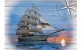 Fotobehang Vlies | Boot | Grijs, Blauw | 368x254cm (bxh)