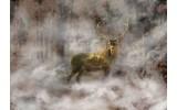 Fotobehang Vlies | Hert | Bruin, Geel | 368x254cm (bxh)