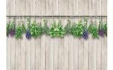 Fotobehang Vlies | Landelijk, Hout | Grijs, Groen | 368x254cm (bxh)