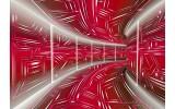 Fotobehang Vlies | Abstract | Rood, Grijs | 368x254cm (bxh)